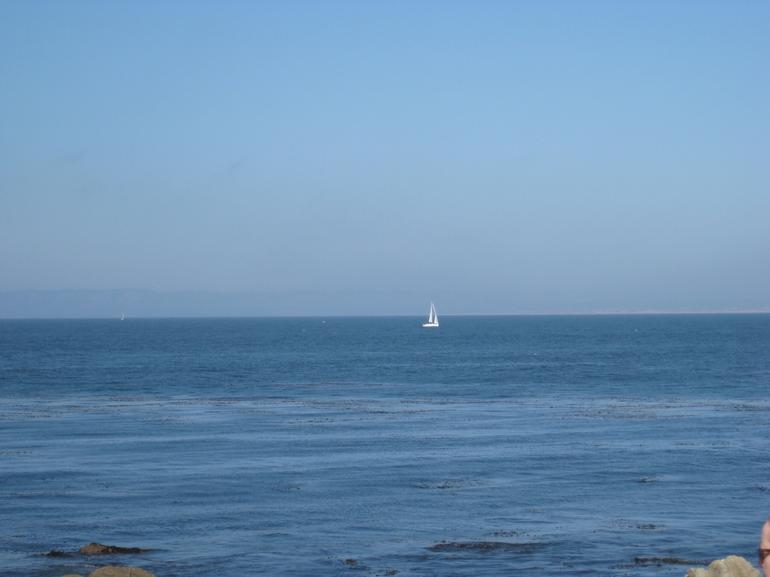 Sailboat off the coast - California