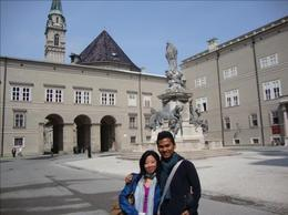 Me and my best friend at the city center of Salzburg., Maria natalina S - August 2009