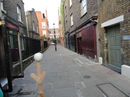 Photo of London Jack the Ripper Tour and London Ghost Walk Traveling Stickman at the first murder site