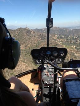 Flying over the Hollywood Hills, just past Universal Studios, Dave H - July 2012