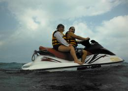 Photo of Cancun Cancun Waverunner and Snorkel Combination Tour Cruising!