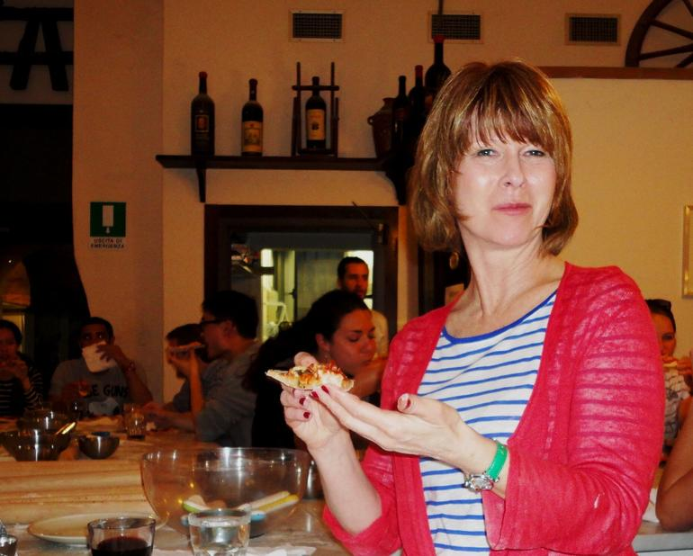 Eating the pizza! - Florence