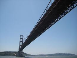 Going under the Golden Gate Bridge. - April 2008