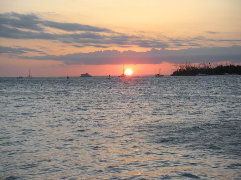 Gorgeous sunset over Key West - Miami