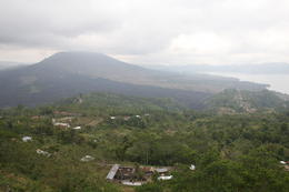 View of the volcano on a cloudy day , -wL- - September 2011