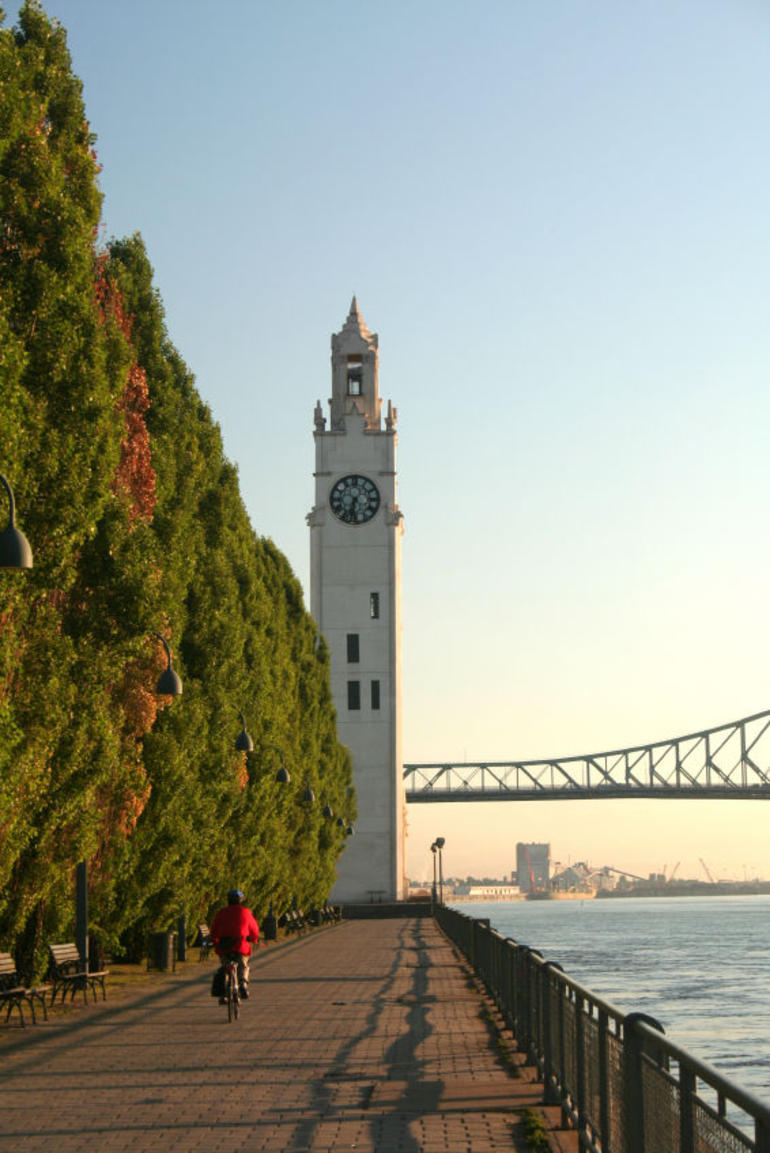 Montreal by bike with Old-Port Clock Tower - Montreal