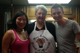 With the chef!, Jules & Brock - September 2012