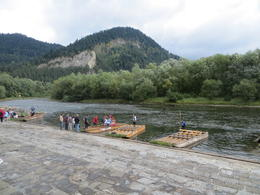These are the rafts were 2 guides pole you down the river. , Sarah Y - September 2012