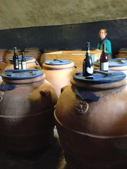 Photo of Florence Vespa Small Group Day Trip to the Chianti Wine Region The barrels where they let olive oil stand