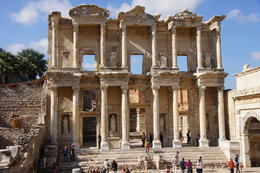 Photo of Istanbul Ephesus and the House of Virgin Mary Day Trip from Istanbul The facade of the Library in Ephesus
