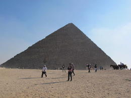 A distant photo of the Great Pyramid. , Rachel S - December 2012