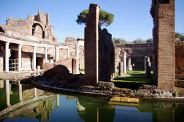 Photo of Rome Hadrian's Villa and Villa d'Este Half-Day Trip from Rome The Maritime Theatre at Hadrian's Villa