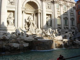 Arrived at the Trevi fountain early morning, not crowded , margaret W - December 2011