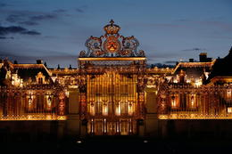 Palace of Versailles lit up at night - July 2012