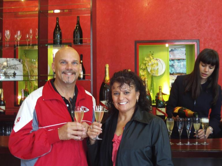 A toast to our trip at Mumm - Paris