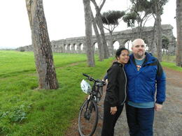Photo of Rome Ancient Appian Way, Catacombs and Roman Countryside Bike Tour Aqueduct