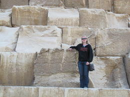 Myself, standing on the Great Pyramid. , Rachel S - December 2012