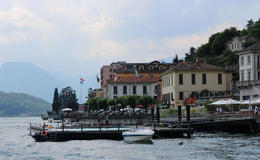 Photo of Milan Lake Como Day Trip from Milan Grand Hotel Tremezzo swimming pool  and  Lake Como - view from boat