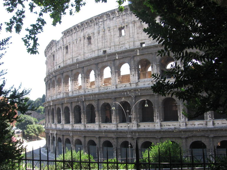 Lunchtime view of the Colosseum - Rome
