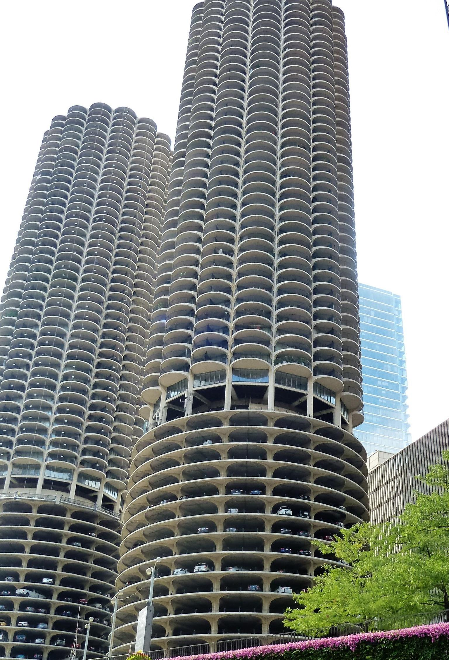 Marina City that was designed to be an complete village.