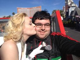 Marilyn Monroe is kissing me on the cheek! , Josue A - November 2012