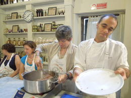 Photo of Florence Small-Group Italian Cooking Class in Florence My daughter, the Anticook, actually making Bolognese sauce