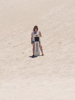 Sandboarding in the Pinnacles Desert, Kierra - March 2014