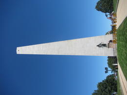 I believe this is my husband standing in front of Bunker Hill. we climb to the top all 296 steps, no elevator. , Levada C - October 2014