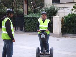 Kellie being taught how to handle the Segway by one of our tour guides!, Teresa B - October 2009