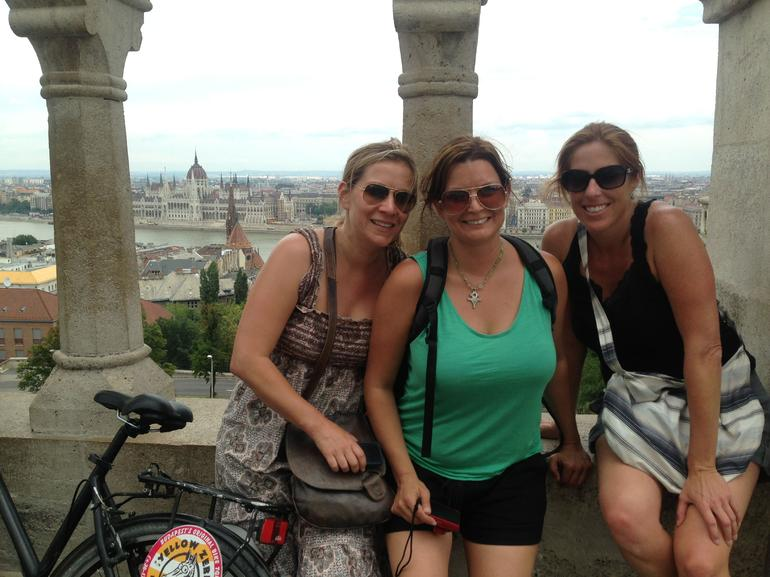 Second half of the day, we rode to the top of the palace grounds and looked back out over the Danube. Incredible!