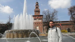 Me in front of Castello Sforzesco , RAHUL S - April 2013