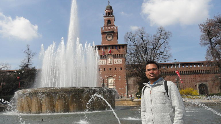 Castello Sforzesco and Fountain - Milan