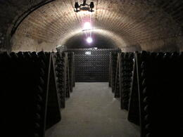 During the tour we see the endless rows of champagne bottles. , Bianca A - April 2013