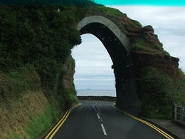 Unusual tunnel during motor coach trip to Giant's Causeway. , Douglas S - August 2011