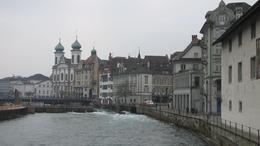 Photo of Zurich Mount Titlis Day Tour from Zurich fast flowing river