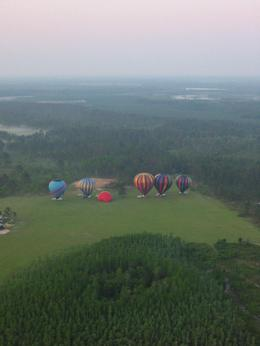 Balloons lined up and inflated for take off - October 2009