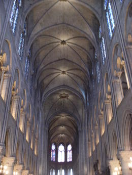 Main hall/arch way of inside Notre Dame , James R - June 2013