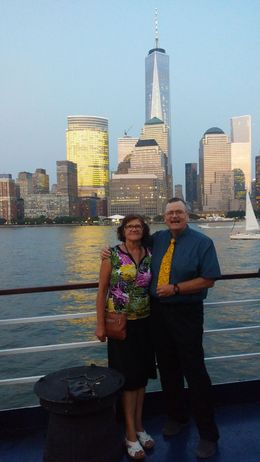 On Deck taking in the sites after dinner , George H - September 2015