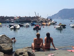 Enjoying the water and view in Cinque Terra! , Jim F - July 2015