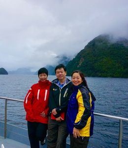 Enjoying the natural Fresh air on the way to Fiordland National Park, New Zealand , Raymond P - May 2015