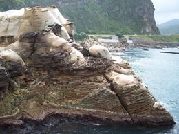 Unique rock formations along the coast, Darin G - October 2010