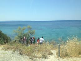 Looking out over ANZAC Cove, the second stop on the Gallipoli tour. , Leah - August 2013