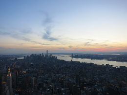 Dawn falling on Lower Manhattan, Patricia P - July 2015