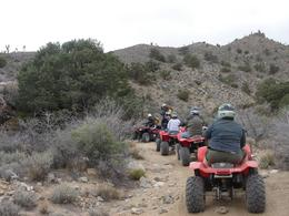 Photo of Las Vegas Hidden Valley and Primm ATV Tour Driving ATVs in Las Vegas' Hidden Valley