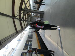 Here I am getting ready to board the Eurostar train that was heading to London. , islandflower73 - August 2013