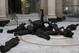Human Statues in the Centro Cultural Centre , NeilC - August 2012