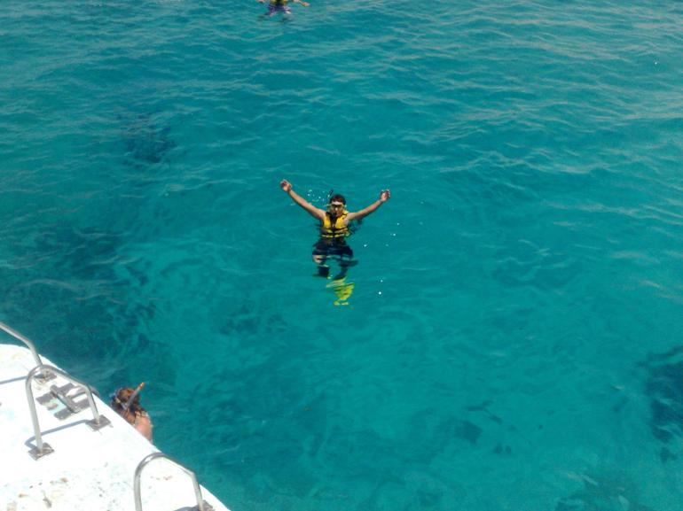 Tiran Island Snorkeling Cruise - in the water