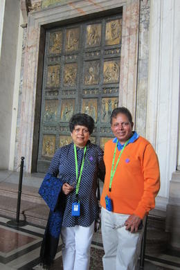 With Mrunalini in front of the Nepolean Door ! , Dilip K - June 2014