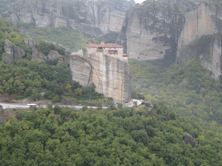 Monastery on thr rock - Athens