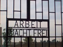 Photo of Berlin Sachsenhausen Concentration Camp Memorial Walking Tour Nazi creed on the main gates